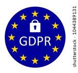 gdpr general data protection... | Shutterstock . vector #1044389131