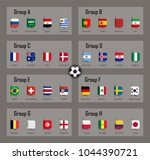 soccer cup 2018 team group and... | Shutterstock .eps vector #1044390721