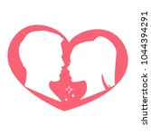 couple in love silhouette... | Shutterstock .eps vector #1044394291