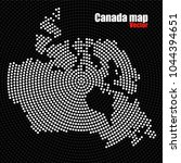 abstract canada map of radial...   Shutterstock .eps vector #1044394651