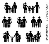 stick figure generation icon... | Shutterstock . vector #1044397234
