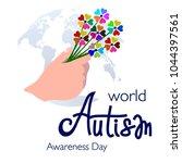 banner for world autism... | Shutterstock .eps vector #1044397561