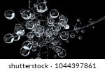 3d molecules or atoms on black... | Shutterstock . vector #1044397861