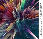 abstract colorful explosion... | Shutterstock . vector #1044397867