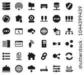 flat vector icon set   world... | Shutterstock .eps vector #1044399439