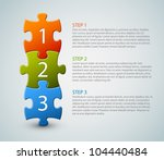 one two three   vector progress ... | Shutterstock .eps vector #104440484
