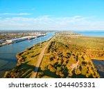 port arthur texas ship chanel ... | Shutterstock . vector #1044405331