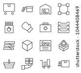flat vector icon set   delivery ... | Shutterstock .eps vector #1044408469