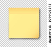 yellow post note paper sheet... | Shutterstock .eps vector #1044408895