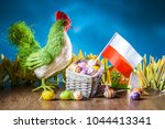 easter holiday in poland.... | Shutterstock . vector #1044413341