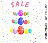 easter happy  egg sale...   Shutterstock .eps vector #1044413554