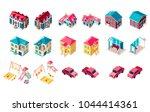set vector isolated isometric... | Shutterstock .eps vector #1044414361