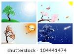 four seasons | Shutterstock .eps vector #104441474