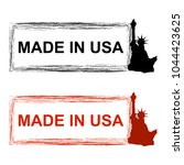 creative made in usa stamp icon ... | Shutterstock .eps vector #1044423625
