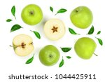 green apples decorated with... | Shutterstock . vector #1044425911