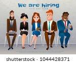human resources interview... | Shutterstock .eps vector #1044428371