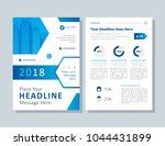 annual report  broshure  flyer  ... | Shutterstock .eps vector #1044431899