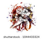 vector color illustration of... | Shutterstock .eps vector #1044433324
