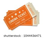 two realistic cinema tickets on ... | Shutterstock .eps vector #1044436471