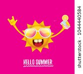 hello summer rock n roll vector ... | Shutterstock .eps vector #1044440584
