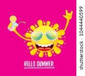 hello summer rock n roll vector ...   Shutterstock .eps vector #1044440599