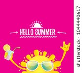 hello summer rock n roll vector ... | Shutterstock .eps vector #1044440617