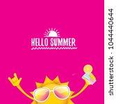 hello summer rock n roll vector ... | Shutterstock .eps vector #1044440644