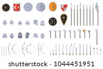 medieval weapons and armors set.... | Shutterstock .eps vector #1044451951