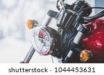 cropped image of new motorcycle ... | Shutterstock . vector #1044453631