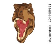 tyrannosaurus head vector | Shutterstock .eps vector #1044459931