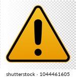 hazard warning attention sign.... | Shutterstock .eps vector #1044461605