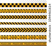black and yellow police stripe... | Shutterstock .eps vector #1044461614