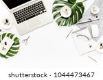 home office workspace mockup... | Shutterstock . vector #1044473467