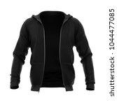 men's hoodie with open zipper.... | Shutterstock . vector #1044477085