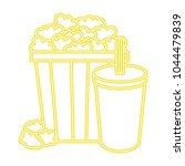 delicious pop corn with soda | Shutterstock .eps vector #1044479839