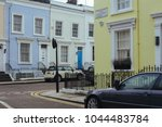 Small photo of London, UK - March 11, 2018: Facades of typical colorful terraced houses in Notting Hill, area of London famous for its carnival