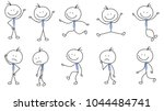 people stickman  stick figure ... | Shutterstock .eps vector #1044484741