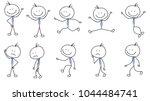 people stickman  stick figure ... | Shutterstock .eps vector #1044484741