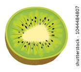 tropical and exotic kiwi fruit | Shutterstock .eps vector #1044484807