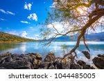 the peaceful gulf of elounda ...   Shutterstock . vector #1044485005