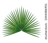 tropical leaf palm icon | Shutterstock .eps vector #1044486901