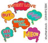 set of six cartoon comic... | Shutterstock . vector #1044491584