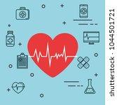 medical elements set icons | Shutterstock .eps vector #1044501721