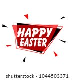 happy easter  sign with red... | Shutterstock .eps vector #1044503371