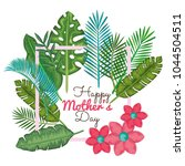 happy mothers day card with... | Shutterstock .eps vector #1044504511