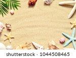 summer beach. starfish and... | Shutterstock . vector #1044508465