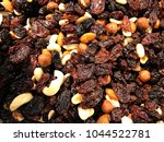 dried fruit and nuts.... | Shutterstock . vector #1044522781