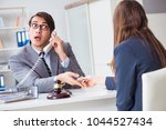 lawyer being offered bribe for... | Shutterstock . vector #1044527434