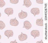 meringues sweet pattern. creamy ... | Shutterstock .eps vector #1044528745
