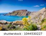 malta  gnejna bay. spring s... | Shutterstock . vector #1044530227